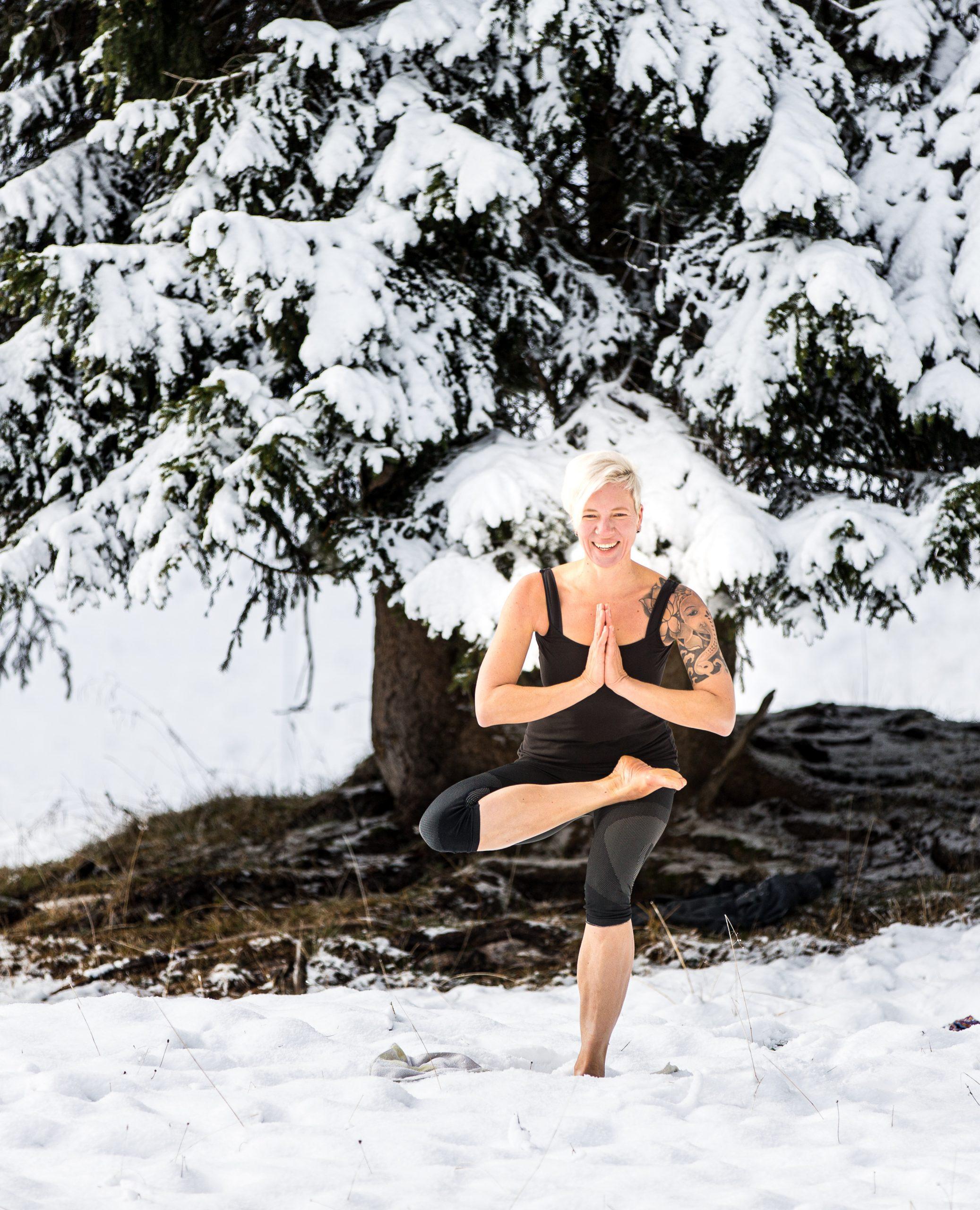 hatha Yoga Sitzende Taube Miri Zinck